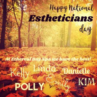 Happy National Estheticians Day! Let us hook you up with the best in the business 🌻 Polly, Kelly, Danielle, Linda, Emily or Kim will brighten your day!
