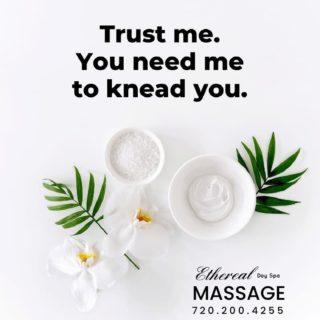 Monday Massage! You need the knead!  720.200.4255